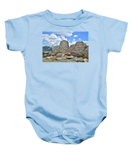 Rock Cropping At Big Horn Pass Baby Onesie