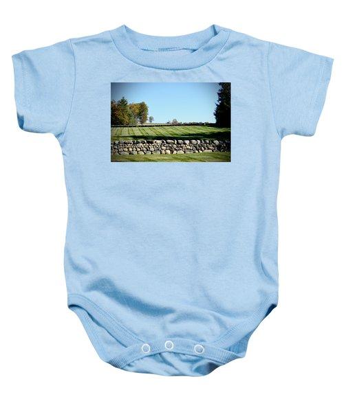 Rock Wall Lawn Baby Onesie