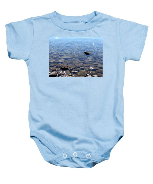 Rocks In Calm Waters Baby Onesie