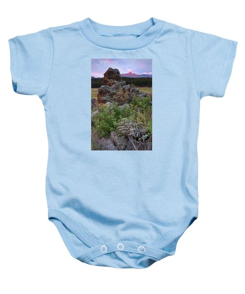 Rocky Mountain Sunrise Baby Onesie
