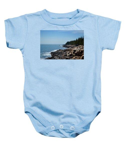 Rocky Summer Shore Baby Onesie
