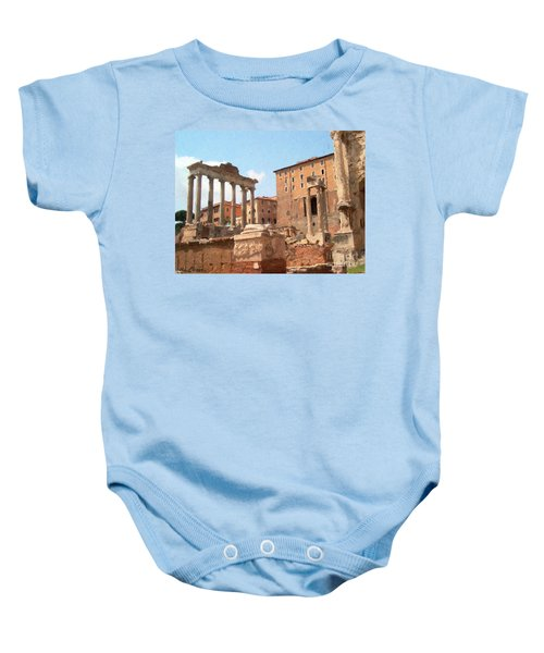 Rome The Eternal City And Temples Baby Onesie