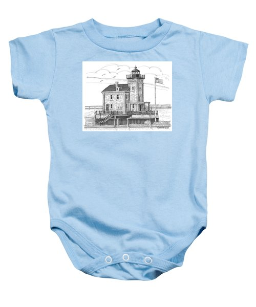 Rondout Lighthouse Baby Onesie