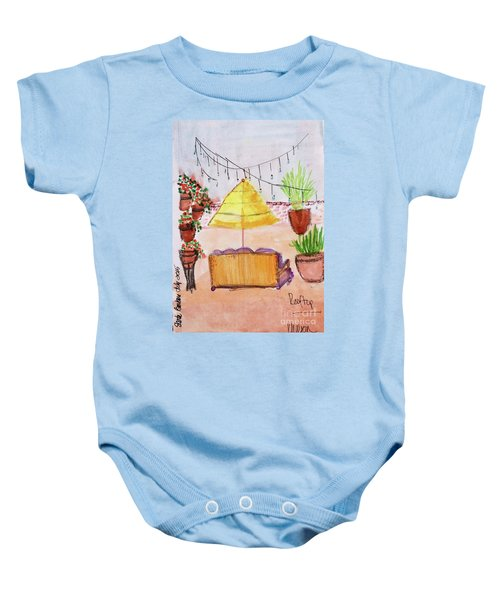 Rooftop At The Canary Baby Onesie