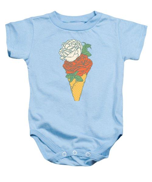 Rose Ice Cream Baby Onesie