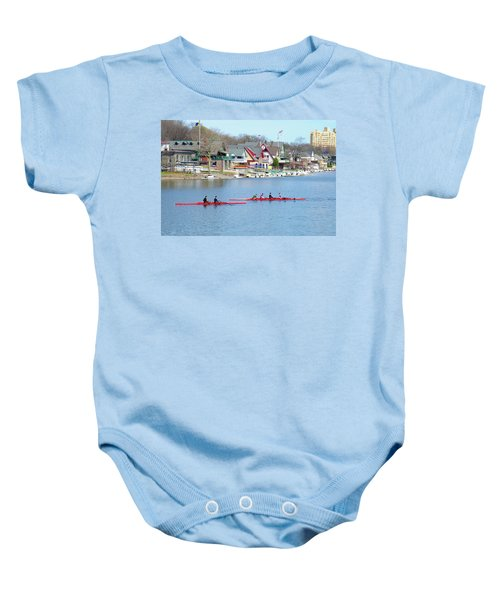 Rowing Along The Schuylkill River Baby Onesie