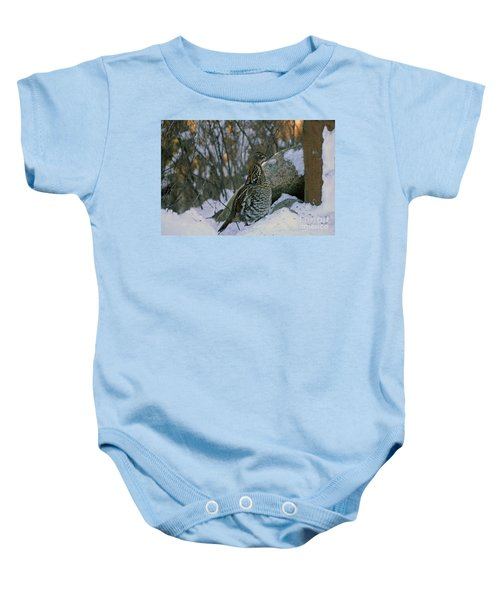 Ruffed Grouse Baby Onesie