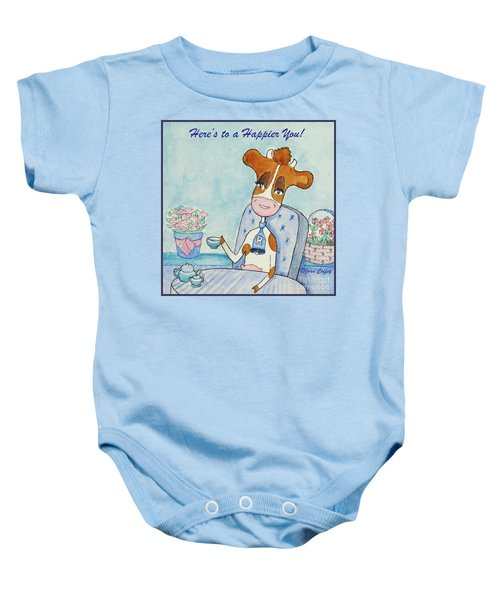 Ruthiemoo Here's To A Happier You Baby Onesie