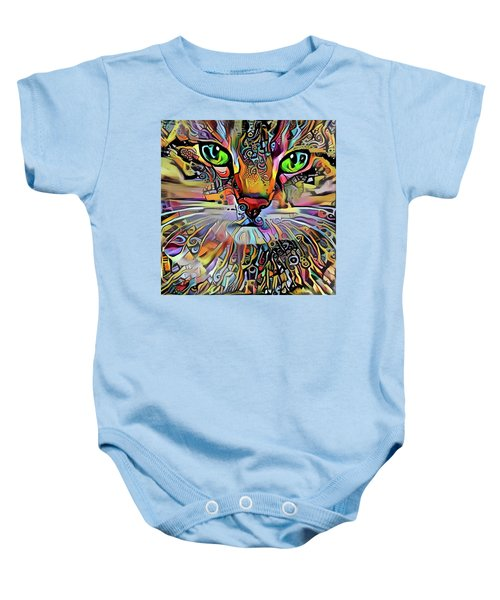 Sadie The Colorful Abstract Cat Baby Onesie