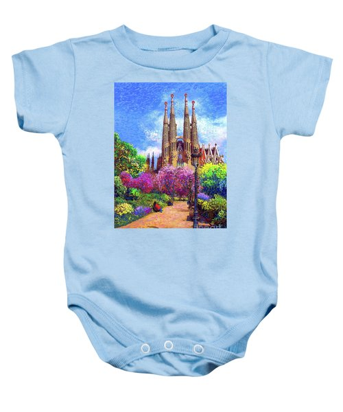 Sagrada Familia And Park Barcelona Baby Onesie