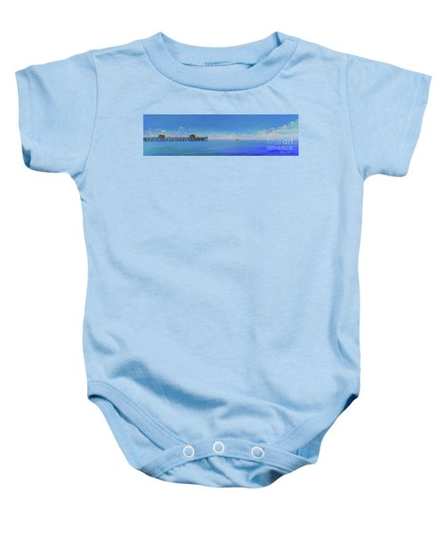 Sailing By San Clemente Baby Onesie