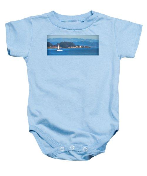 Sailing On The Monterey Bay Baby Onesie