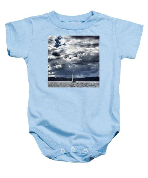 Sailing Puget Sound Baby Onesie