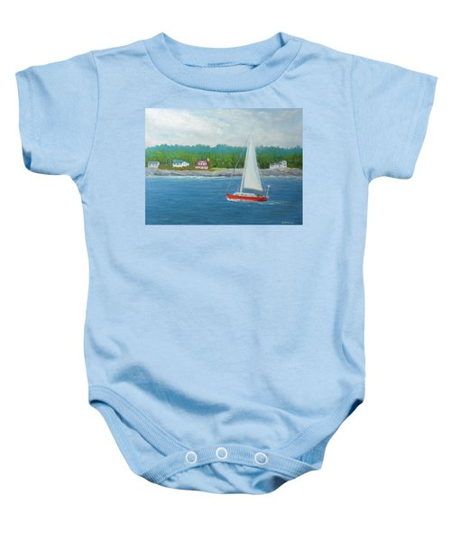Sailing To New Harbor Baby Onesie