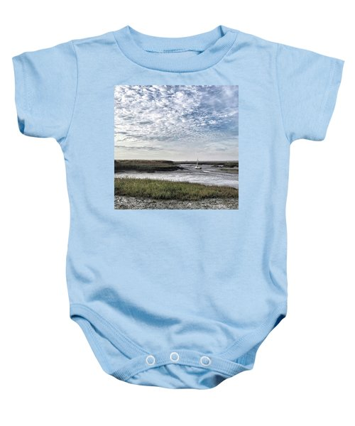 Salt Marsh And Creek, Brancaster Baby Onesie