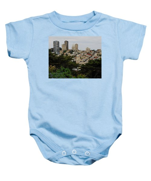 Baby Onesie featuring the photograph San Francisco California Urbanscape by Renee Hong