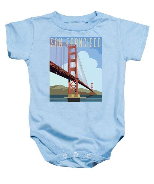San Francisco Poster  Baby Onesie