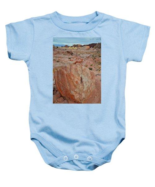 Sandstone Shield In Valley Of Fire Baby Onesie