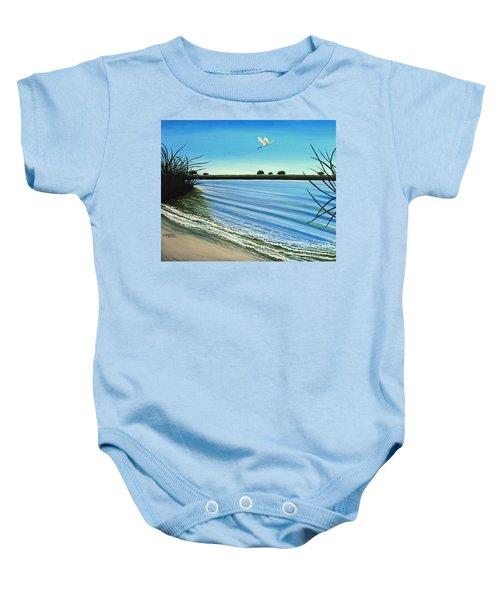 Sandy Beach Baby Onesie