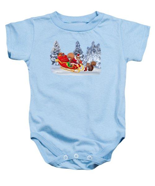 Santa's Little Helper Baby Onesie by Glenn Holbrook