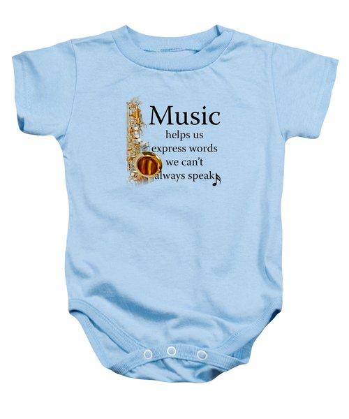 Saxophones Express Words Baby Onesie