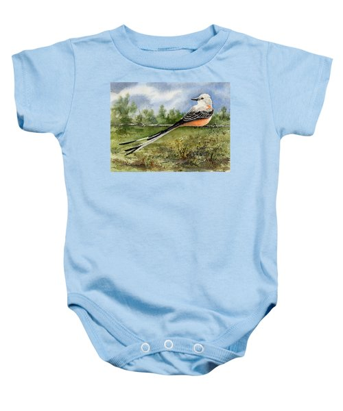 Scissor-tail Flycatcher Baby Onesie by Sam Sidders