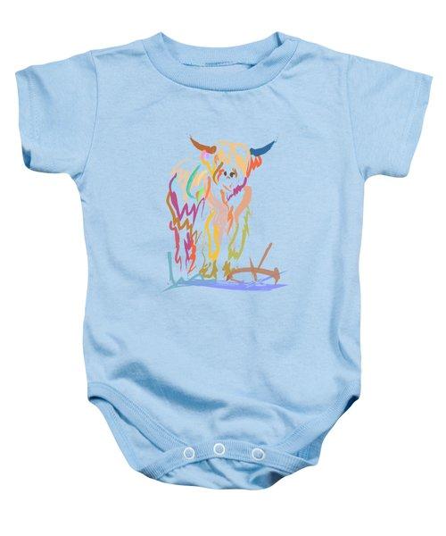 Scottish Highland Cow Baby Onesie