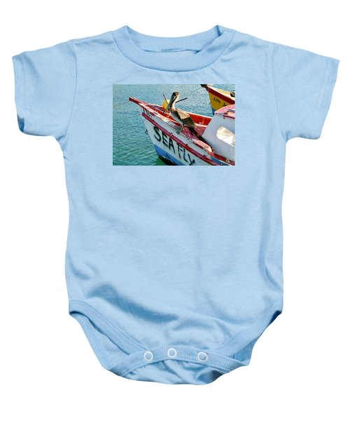 Sea Fly 1, Aruba Baby Onesie