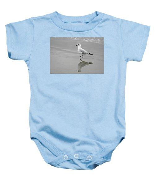 Sea Gull Walking In Surf Baby Onesie