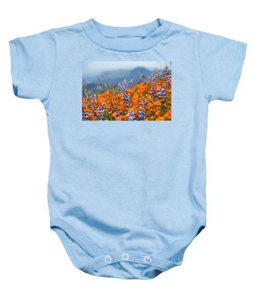 Sea Of California Wildflowers Baby Onesie