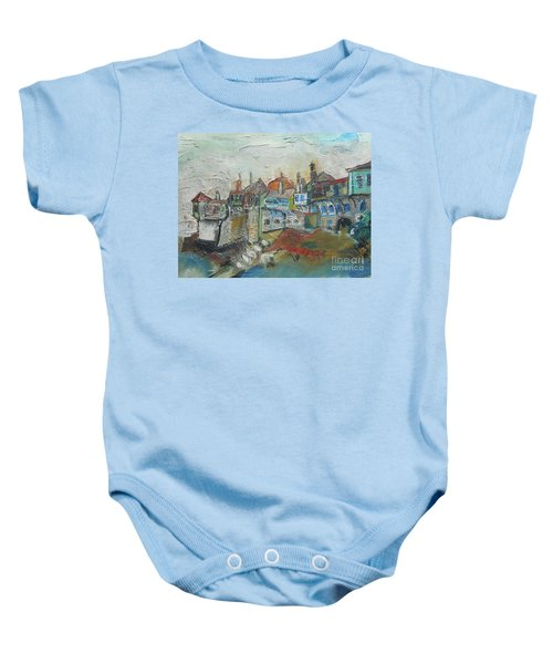 Sea Shore Village Baby Onesie