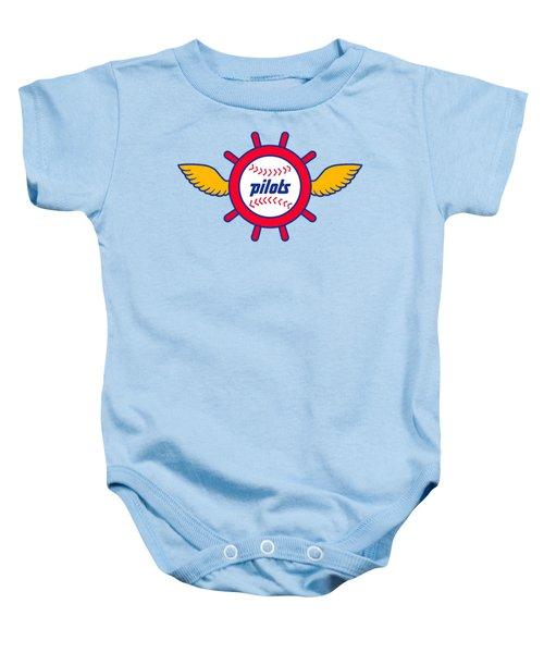Seattle Pilots Retro Logo Baby Onesie by Spencer McKain