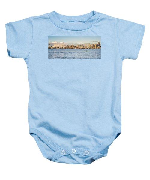 Seattle Skyline 2 Baby Onesie