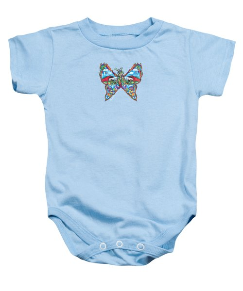 September Butterfly Baby Onesie