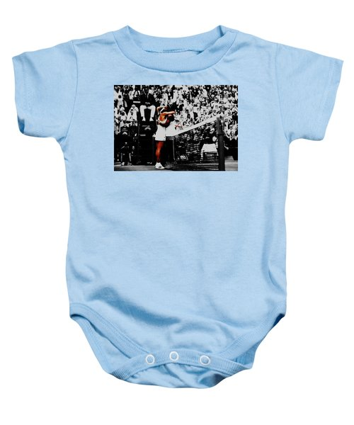 Serena Williams And Angelique Kerber Baby Onesie by Brian Reaves