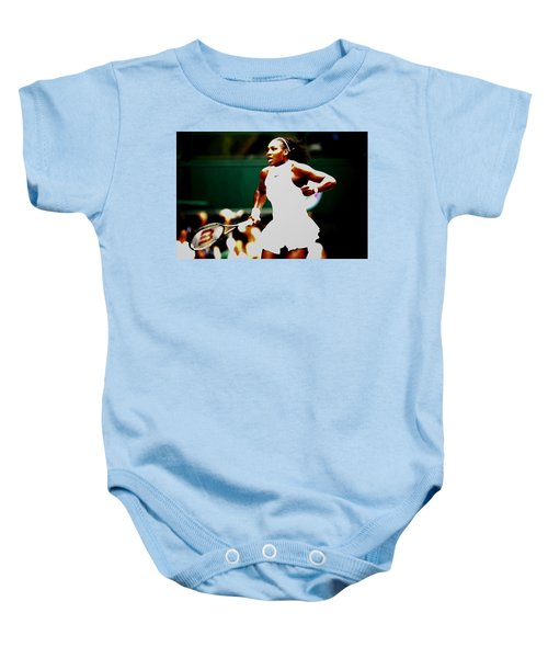 Serena Williams Making History Baby Onesie by Brian Reaves