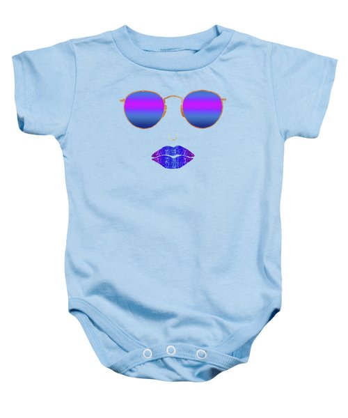 Sexy Lips Sunglasses, Nose Ring Fashion Art, Summer Dusk Baby Onesie