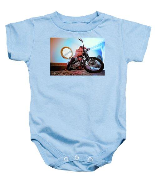 She Rides- Baby Onesie