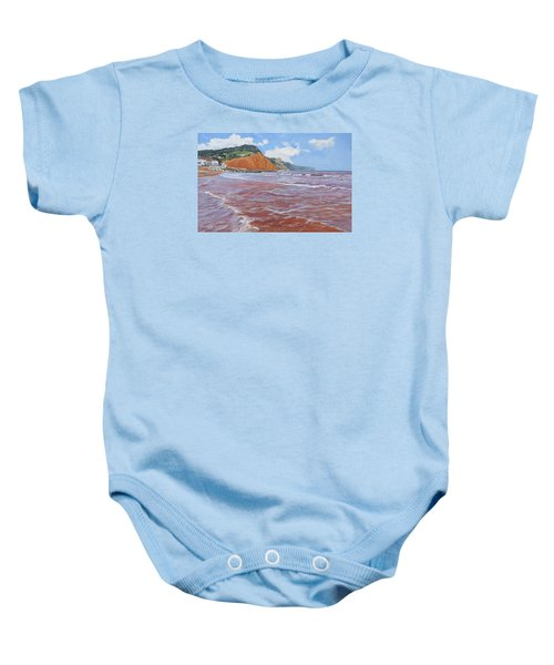 Baby Onesie featuring the painting Sidmouth by Lawrence Dyer