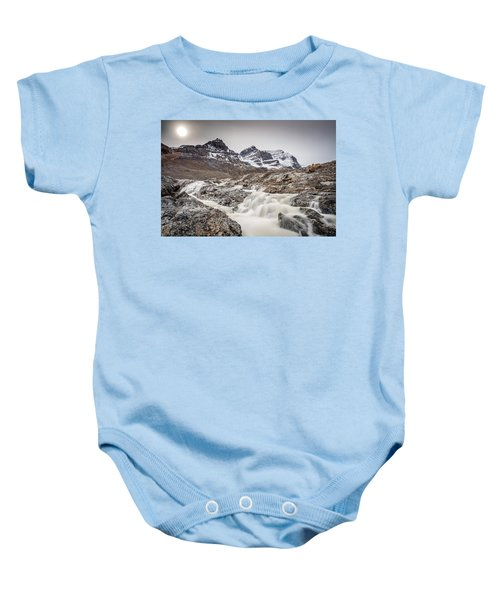Silky Melt Water Of Athabasca Glacier Baby Onesie