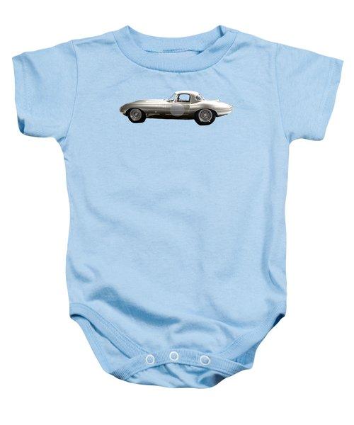 Silver Sports Car Art Baby Onesie