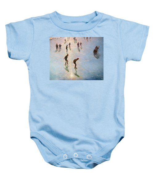 Skating In The Sunset  Baby Onesie