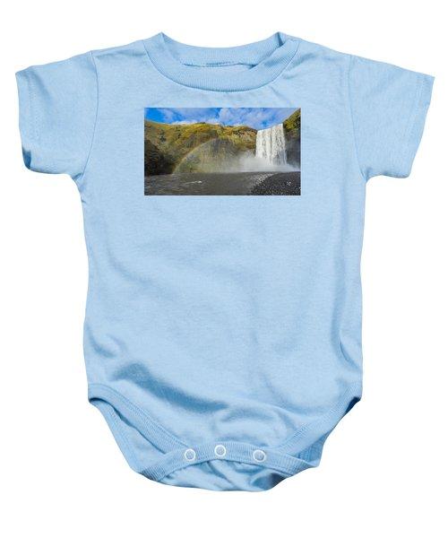 Skogafoss Rainbow Baby Onesie