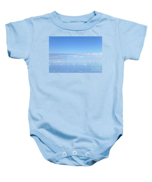 Baby Onesie featuring the photograph sky and clouds M1 by Francesca Mackenney
