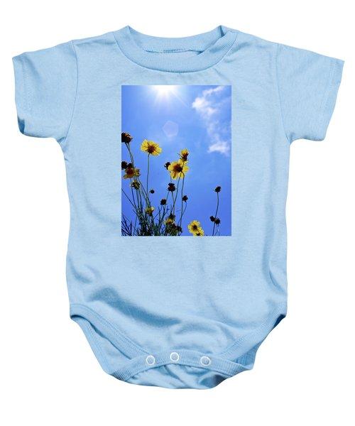 Sky Flowers Baby Onesie