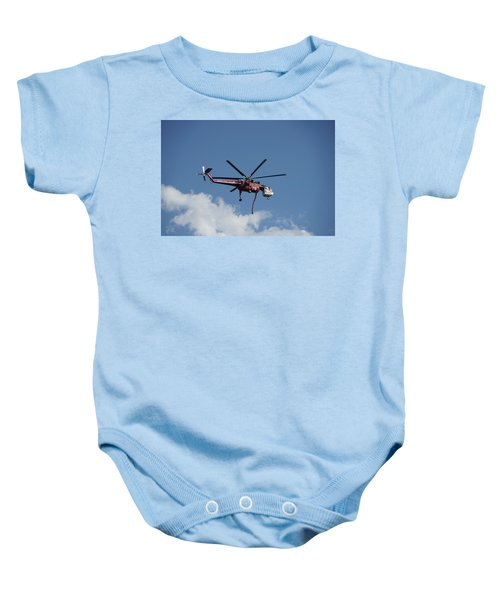 Skycrane Works The Red Canyon Fire Baby Onesie