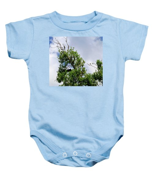 Baby Onesie featuring the photograph Sleeping Monkey 2 by Francesca Mackenney