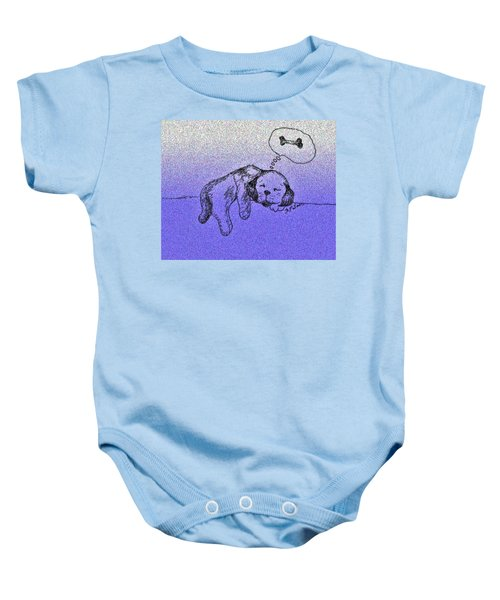 Sleepy Puppy Dreams Baby Onesie