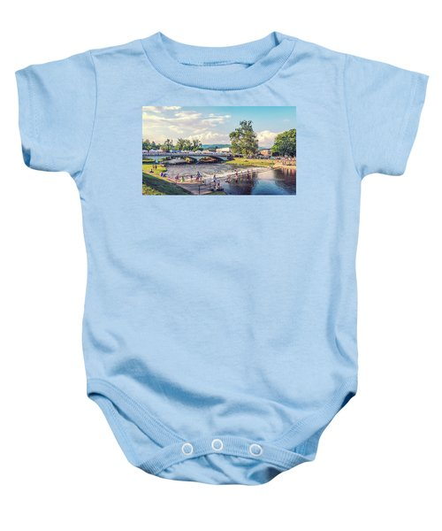 Small Town America Baby Onesie