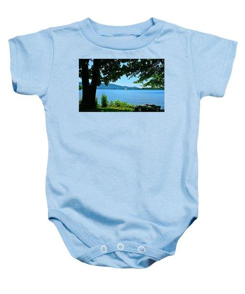Smith Mountain Lake Sailor Baby Onesie
